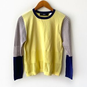 Cut25 Yigal Azrouel Colorblock Lightweight Sweater